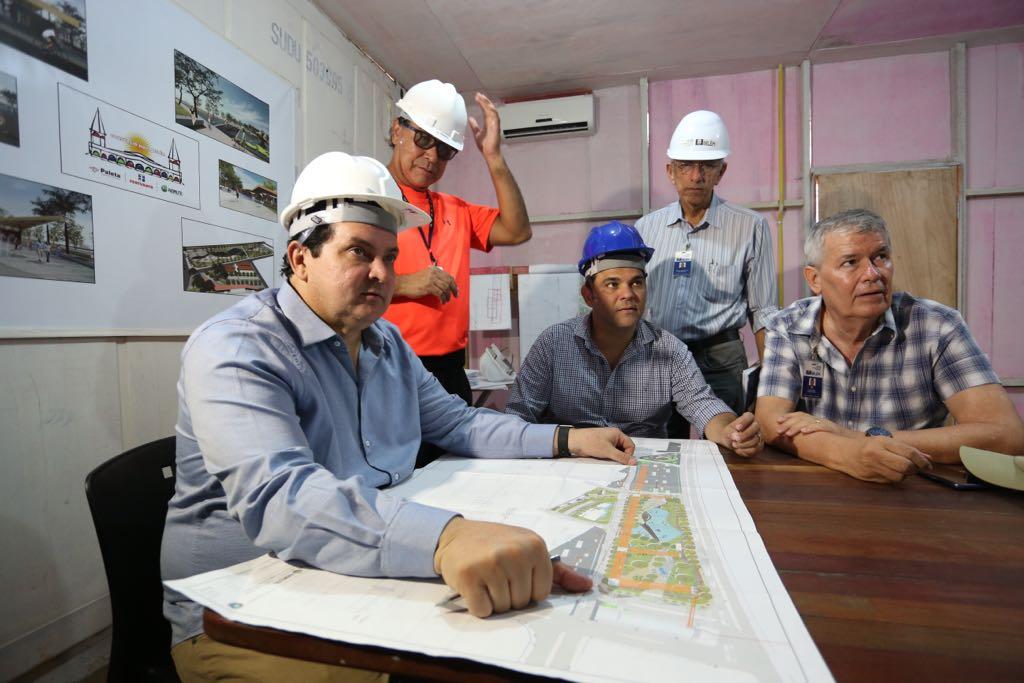 Deputado Priante visita obras do Porto Futuro, em Belém