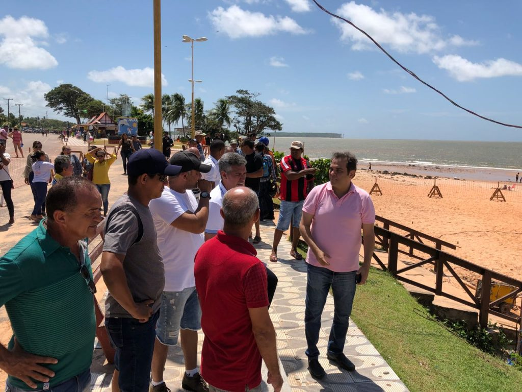 Priante visita obras na orla da Praia Grande