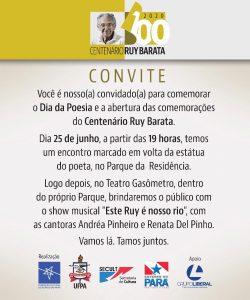"Deputado José Priante no projeto ""Ruy Barata – 100 Anos"""