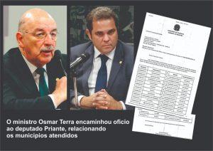 Priante consegue R$ 1,3 milhão para melhorar serviço social de 13 municípios