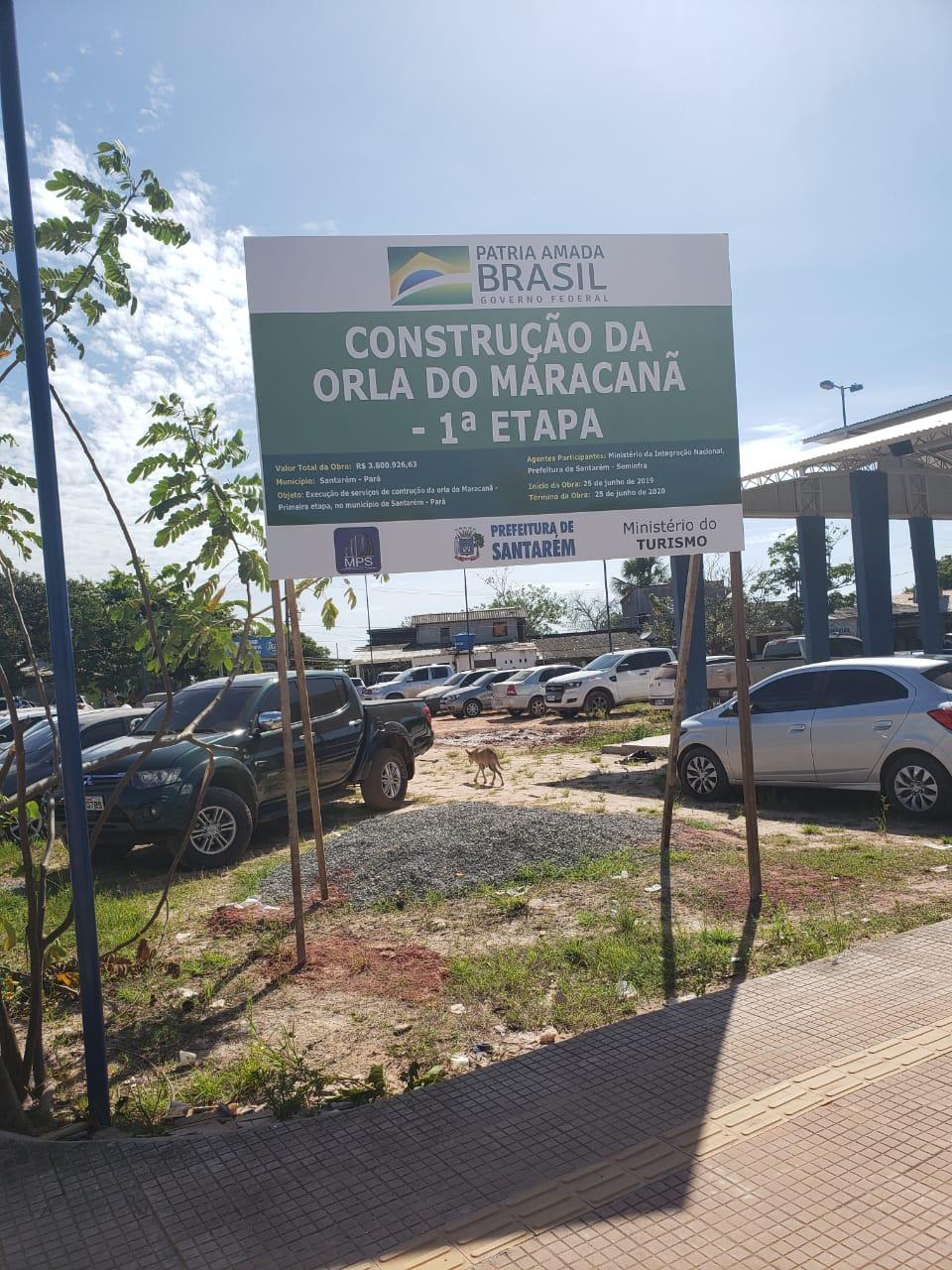 Prefeitura de Santarém recebe recursos  para construção da orla da praia do Maracanã