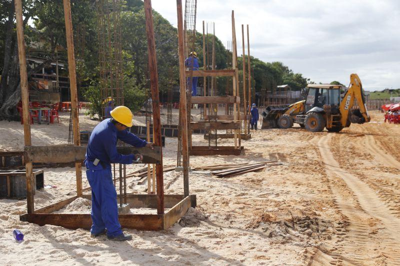 Santarém: obras da prefeitura melhoram Praia do Maracanã